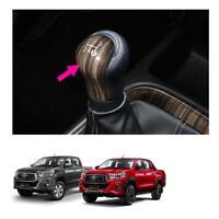 Fits Toyota Hilux Revo 15 19 Genuine Leather Gear Knob Manual 5 Speed Wood Brown