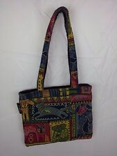 Laurel Burch Puppy Dogs Shoulder Bag Purse Handbag