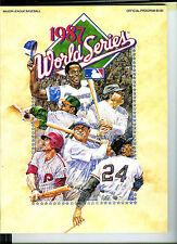 1987 World Series Program,  St Louis Cardinals vs Minnesota Twins