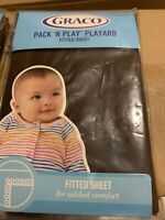 "Graco Pack N Play Playard Fitted Sheet Chocolate Brown Baby 39"" X 27"" Unisex"