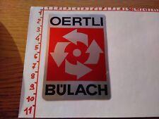 ADESIVO VINTAGE STICKER KLEBER OERTLI BULACH