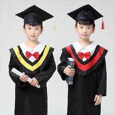 Graduation Hat Gown Cap Cloak Children Kids Kindergarten Costume Outfit