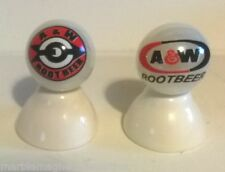 2 - A&W ROOTBEER SODA LOGO COLLECTOR MARBLES