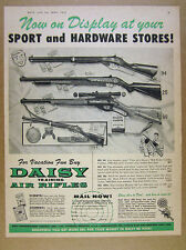 1957 Daisy 94 Red Ryder 25 Pump 98 Eagle Air Rifles bb guns vintage print Ad