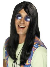 Black 1960's Groovy Neil Hippy Wig Adult Mens Smiffys Fancy Dress Costume