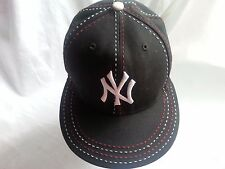 NEW YORK/NY YANKEES FITTED CAP NEW ERA 59 FIFTY SIZE 7-MLB BASEBALL-BLK & WHITE