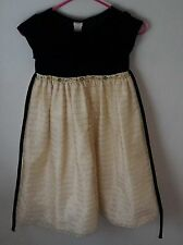 Girls Perfectly Dressed Top Part Black Velvet And Botton Layer Dress Size 6x