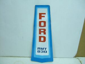 Ford RMT830 Lawn Mower Decal NOS JAC392547
