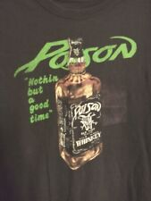 """New listing Poison """"Nothing But A Good Time"""" Whiskey Bottle T Shirt Black"""