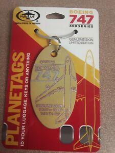 Rare Boeing 747 Qantas Gold Aircraft SkinPlane Tag / Planetags