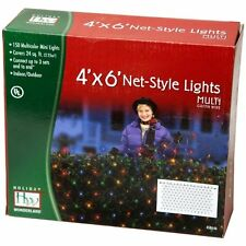 Holiday Wonderland 48951-88 150-Count Multi Color Christmas Lights Net Mesh Ligh