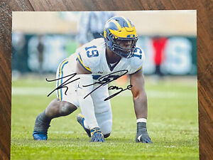 KWITY PAYE Michigan Wolverines SIGNED 8X10 Photo 2021 Colts Indy Autographed