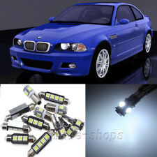 Full White 9pcs Interior LED Light Kit for 1998-2005 BMW 3 Series E46 Coupe