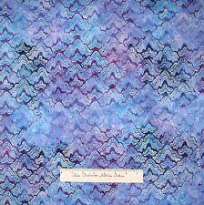 Batik Fabric - Christmas Regal Purple & Blue Geometric - Robert Kaufman YARD