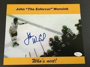 JOHN WENSINK AUTOGRAPHED 8 X 10 PHOTO CHALLENGING BENCH FIGHT J.S.A.