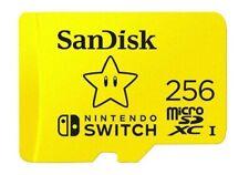 SanDisk 256GB microSDXC UHS-I U3 100MB 256G microSD Nintendo Switch SDSQXAO-256G