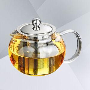 1PC Premium Ergonomic Modern Durable 1300ml Glass Teapot for Hot Tea Fruit Tea