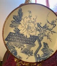 """Antique Chinese Blue & White Porcelain Charger/ Plate 12"""""""