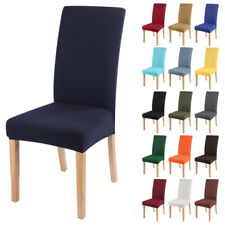 Stretch Dining Chair Cover Slipcovers Removable Banquet Protective Covers Decor