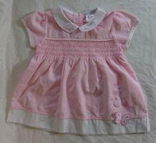 BABY GIRL DRESS 3-6 MONTHS PINK WHITE PETER PAN COLLAR SUMMER BEAUTIFUL VGC