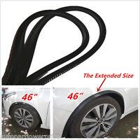 "2x 46"" Arch Fender Flares Extension Black Carbon Fiber Protector Lip Wheel-Arch"