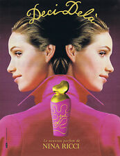 PUBLICITE ADVERTISING 084 1995 NINA RICCI  Deci Delà par William Laxton