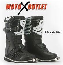 Fly Racing Maverick Dirt Bike Motocross Boots MX Black Size Y12 Youth Kids 12