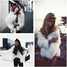 Womens Winter Fluffy Jacket Overcoat Vest Waistcoat Fur Warm Outerwear Coat Tops