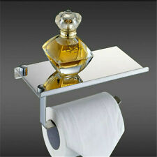 New ListingBathroom Tissue Roll Hanger Toilet Paper Holder Wall Mounted Dull Polished Silve