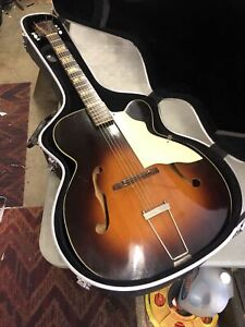Vintage Gagliano by KAY L8394 Deluxe Archtop JUMBO BODY Acoustic Guitar NICE!
