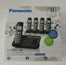 NEW-Panasonic KX-TG3645B Expandable Cordless Phone System with Answering Machine