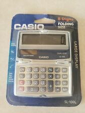 Casio Sl-100L Solar + Battery Folding Calculator , I check each , pocket size