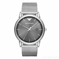 Armani Watches AR11069 Grey Dial & Silver Mesh Men's Watch