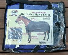 "Horse Stable Sheet - 420 Denier - Purple - Size 63"" - Reflective Piping - Last 1"