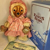 Robert Raikes Bear Sara Anne 1987 Box COA Tag Limited Edition