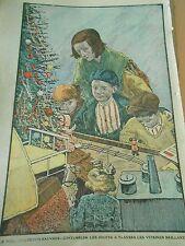Le Noel des petits pauvres contempler les jouets à travers vitrines Print 1935