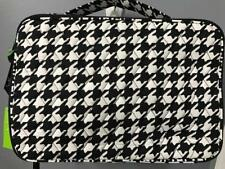 VERA BRADLEY ~MIDNIGHT HOUNDSTOOTH~ LARGE BLUSH & BRUSH MAKEUP COSMETIC Case
