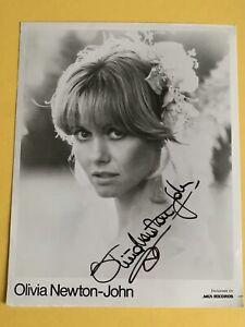 Olivia Newton-John Signed Original Vintage MCA Records B&W 8x10 photo
