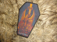 Dio Coffin Shape Patch Heavy Metal Holy Diver Woven Patch