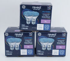 3 GE Reveal HD+35W PAR20 Indoor Flood Light-Medium Base-270 Lumens- 6 Bulbs NIB