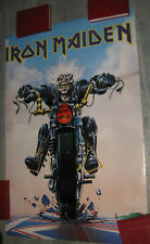 VINTAGE 80s 90s pin-up poster IRON MAIDEN Don't Walk motorcycle Ediposters Eddie
