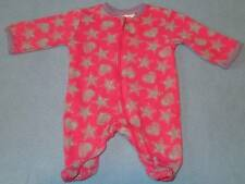 Tiny Little Wonders Cute Girls Hearts & Stars Print Sleep/Jumpsuit, Size 000