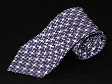 Neuf TOM FORD CLASSIQUE 100%Soie Blanc Violet Motif Géométrique cravate