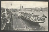 Postcard Bournemouth Dorset paddle Pleasure Steamer at Pier posted 1916