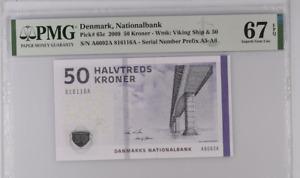Denmark 50 Kroner 2009 P 65 c Superb Gem UNC PMG 67 EPQ