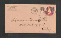 1909 AUDITOR ST LOUIS MO ADVERTISING COVER US POSTAL STATIONARY STAMPED ENVELOPE