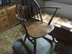 Vintage Mid Century Child's Ercol Rocking Chair