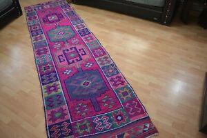 Herki Runner Rug,3.2x11.7,Antique Rug,Handmade Rug,Runner Rug,Turkish Floor Mat.