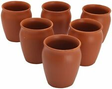Organic Terracotta Clay Glass 6 Pcs Set Khulad Tea