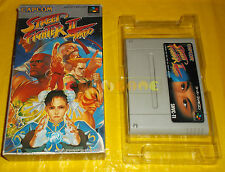 STREET FIGHTER II TURBO 2 Super Nintendo Snes NTSC Vers Japan SENZA MANUALE